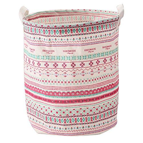 Wäschesammler Kleidung Aufbewahrungskorb sammeln Kid Toy Organizer, Baumwolle, Pattern, 20x20x1cm ()