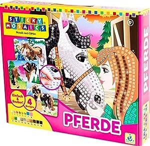 Orb Factory I Love Horses - Kits de Manualidades para niños (Sticks, Chica, Negro, Azul, Bronce, Marrón, Oro, Verde, Gris, Rosa, Plata, Color Blanco, Amarillo)