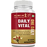 MuscleXP Daily Vital Multivitamin With 25 Vitamins   Minerals, 5 Super Antioxidants   Ginseng, 60 Tablets