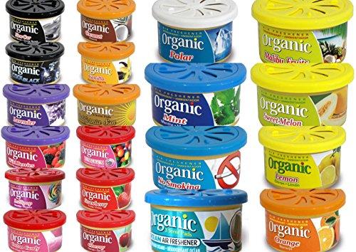 6 Organic Duftdosen mit verstellbarem Dosierdeckel Freie Duftwahl MIX DIR WAS aus 20 Duftsorten -
