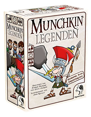 Pegasus-Spiele-17238G-Munchkin-Legenden-12 Pegasus Spiele 17238G – Munchkin Legenden 1+2 -