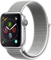 Apple Watch Series 4-40mm Space Silver Aluminum Case with Seashell Sport Loop, GPS, watchOS 5
