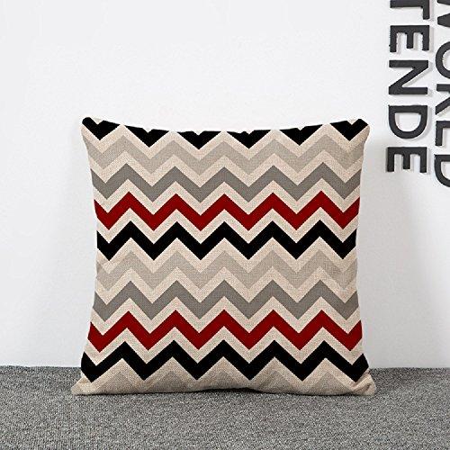 Venkaite federa cuscini cotone misto lino federe per cuscino decorazione domestica 45x45cm