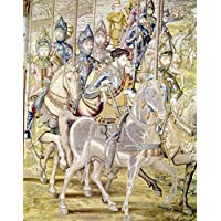 Conquest Of Tunis 1535. /Nconquest Of Tunis By Holy Roman Emperor Charles V (Gray Horse) In 1535. Detail From A Tapestry Flemish 16Th Century By The Painter Juan Vermay And The Weaver William Of Pannemaker. Fine Art Print (60.96 x 91.44 cm)