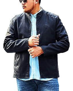 6de59354b537 Hommes Classique Slim Fit Veste en Cuir Moto Blouson Manches Longues Vestes  Softshell Motorcycle Jackets