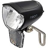 nean Fiets E-Bike voorlamp, koplamp, koplamp, met reflector en StVZO-goedkeuring, 70 lux helderheid, aluminium koelplaat, zwa
