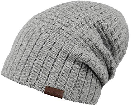 Barts Hudson Beanie Strickmütze Grau (Deutsch Hat)