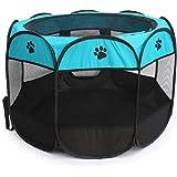 بيت للحيوانات الاليفة للكلاب والقطط، سرير وبيت قابل للطي مناسب لمركز العناية بالكلاب، خيمة مسيجة للاستخدام الداخلي والخارجي -