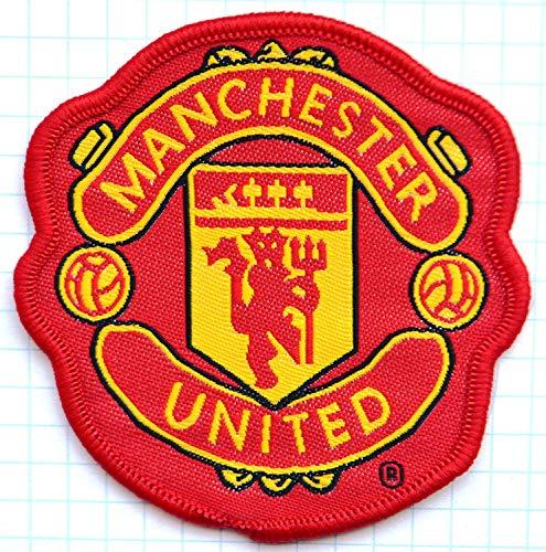 Patch - Manchester United - black -red - Man United - Red Devils - Soccer UK England - Soccer Football - Fußball Patch - hot iron - Aufnäher - Aufbügler - Bügelbild