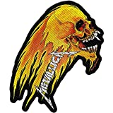 Metallica Patch Flaming Skull Band Logo Nue offiziell woven sew on