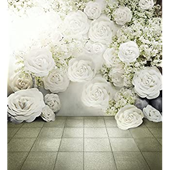Digital Bedruckte 3D weiß Rosen Hintergrund: Amazon.de: Kamera