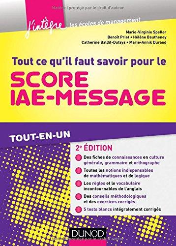 Tout ce qu'il faut savoir pour le Score IAE-Message - 2e d. - Tout-en-un
