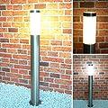 Aussenleuchte Aussenlampe Standleuchte Edelstahl 232-800 Wegeleuchte Gartenlampe von Maxkomfort auf Lampenhans.de