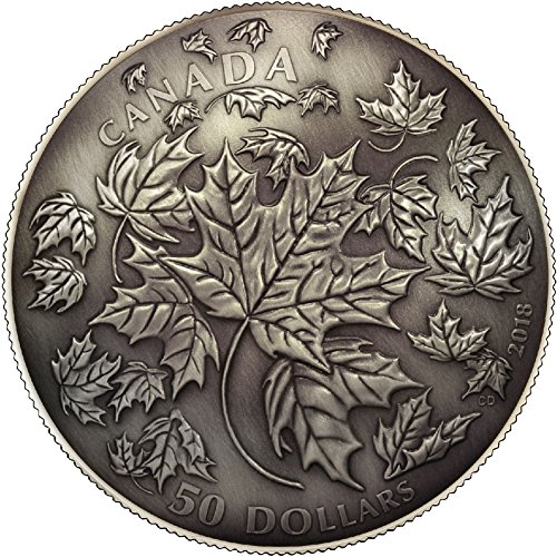 MAPLE LEAF 30th Anniversary Dome Convex Shape 5 Oz Silver Coin 50$ Canada 2018 (Silber Münzen 5 Oz)