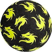 Monta Derbystar Monta Street - Balón de fútbol, color vaquero y neón, todo el año, color negro y amarillo, tamaño 4,5