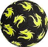 Derbystar - Pallone da Calcio Monta Street Match, Colore Nero/Giallo, Taglia 5