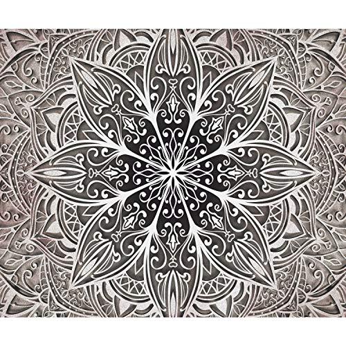 decomonkey | Fototapete Mandala 350x256 cm XL | Tapete | Wandbild | Wandbild | Bild | Fototapeten | Tapeten | Wandtapete | Wanddeko | Wandtapete | Orient Zen Beige Braun