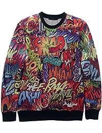 Demarkt Homme Sweat-Shirt Sweat Swag Dessin de 3D -3 Tailles -10 Modèles