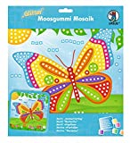 Ursus 8420012 - Moosgummi Mosaikbild, Schmetterling mit Glitter, ca. 25 x 27 cm