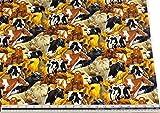 Kühe schwarz weiß braun 100% Baumwolle Hochwertiger Stoff