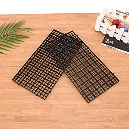 Wetrys 6 Pcs Grid Isolate Board Divider Fish Tank Bottom Black Filter Tray Aquarium Crate 3