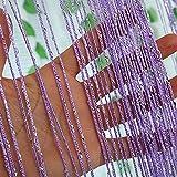 1 * 2m tür string vorhang seltene flat silver ribbon thread fringe,Dekorative tür zeichenfolge vorhang perlen-C