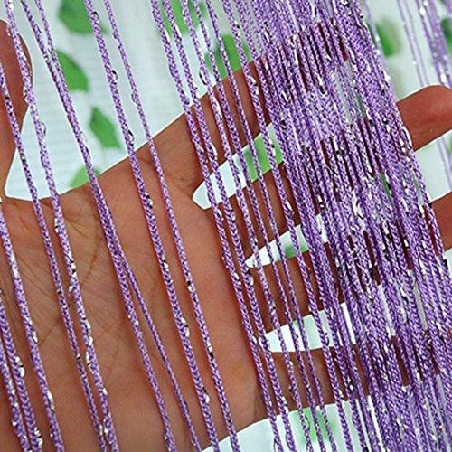 1 * 2m tür string vorhang seltene flat silver ribbon thread fringe,Dekorative tür zeichenfolge vorhang perlen-C -