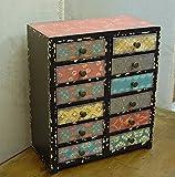Kleine Vintage Style Mini Set der Schubladen