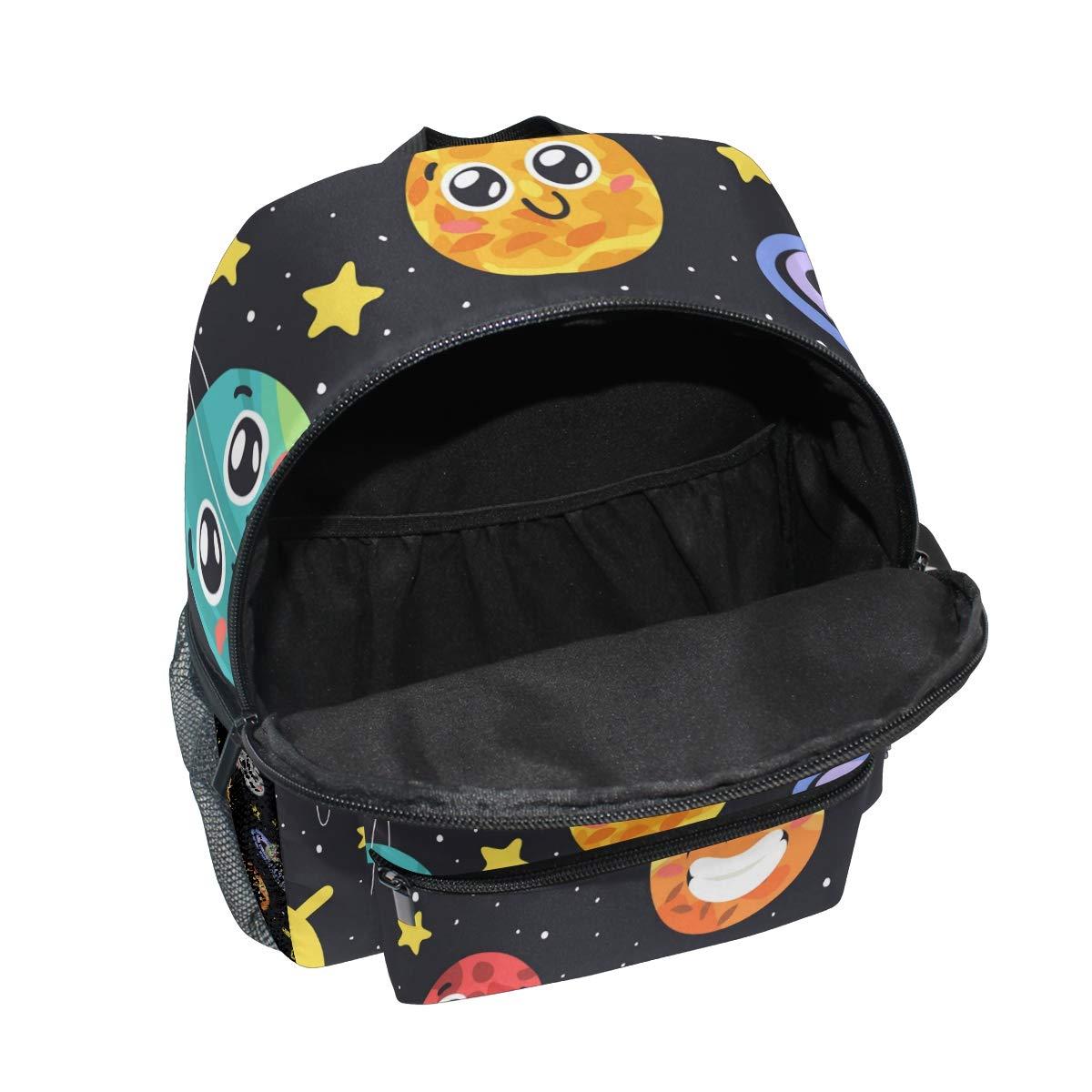 61 BAYTWqNL - CPYang Mochila para niños con sistema solar Planet Emoji School Bag Kindergarten Preescolar Mochila para niños y niñas