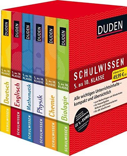 Duden Schulwissen 5. bis 10. Klasse (6 Bände): Alle wichtigen Unterrichtsinhalte - kompakt und übersichtlich (Duden - Lernhilfen)