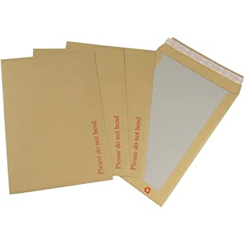 6 x A4 HARD BACK BOARD ENVELOPES CARD BACKED 12.75x9/""