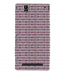 Nextgen Designer Mobile Skin for Sony Xperia T2 Ultra :: Sony Xperia T2 Ultra Dual SIM D5322 :: Sony Xperia T2 Ultra XM50h (Pink Butterfly red Butterfly red Lines Purple Lines Purple Dots)