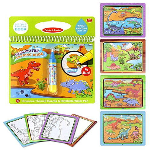 Pinfect Reusable Magic Water Painting Book Kid Baby Doodle Draw Board Toys/Dinosaur