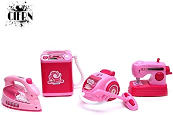 CIERN Battery Operated, Household Set - Iron, Washine Machine, Vacuum Cleaner, Sewing Machine