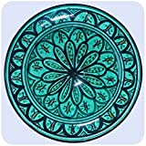 Simandra Orientalischer Keramik Teller Handbemalt marokkanische Keramikschüssel Wandteller klein Color Grün