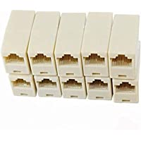 Fedus RJ45 8P8C Female to Female Coupler Connector Network LAN Cable Adapter Pack 10