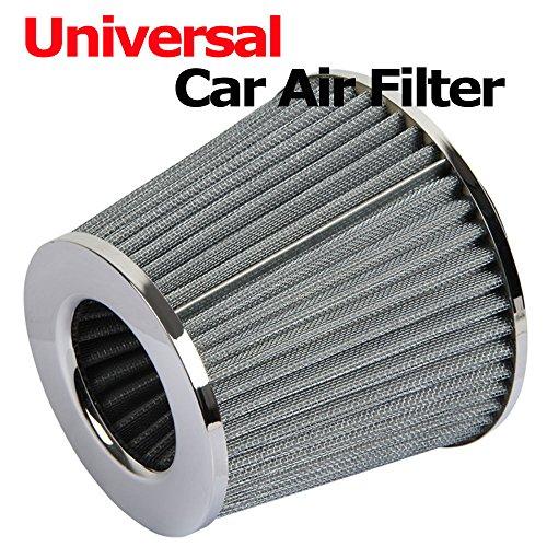 Generic yanhonguk150730-2831yh2253yh chrom Finish Auto Air Filter duction Kit High Power High Powe Induktion Kit Konus Car Universal Mesh Konus niversal Sport Chrom Finish - Universal-konus