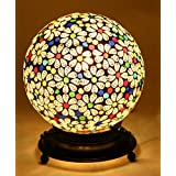 Mejilla Antique Look Decorative Mosaic Table Lamp / Light Lamp / Night Lamp/ Fancy Light / Lamp Shade / Vintage Light / For Drawing Room / Dining Area / Bedroom / Party Decoration / Bedside (Size- 16 X 16 X 18 Cm) BE126