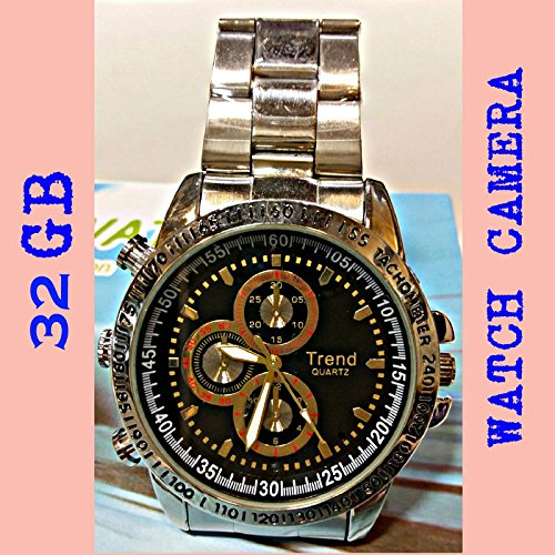 SPY WRIST WATCH VIDEO CAMERA (32 GB inbuilt memory)  available at amazon for Rs.4999