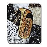 CafePress–tuba-ornament–rutschfeste Gummi Mauspad, Gaming Maus Pad