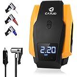 CATUO Compresseur d'air Portable, 150 PSI 12V Digital Compresseur air avec Lampe LED,Compresseur de Voiture Portable Gonfleur Pneu,Câble 2.8m