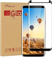 Galaxy S8 Schutzfolie Panzerfolie ,Solocil 9H Härtegrad HD Klar Anti-Kratzer Panzerglasfolie Gehärtetem Glas Displayschutzfolie Displayschutz für Samsung Galaxy S8