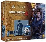 Logo PlayStation, logo Uncharted, la citazione in lettere dorate