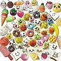Juguetes Squishy de Hinchado Lento Paquete Surtido de 20 Squishies: Kawaii de Comida Gigante Bollo Pan Donuts Panda Suaves y Blandos Jumbo Medio y Mini - Amuletos de Móvil Llavero Correa de Karids