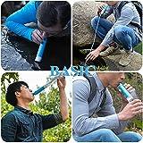 Mini Wasserfilter, ODOLAND Persönlicher Wasserfilter Filter für Outdoor Camping Wandern Trekking -