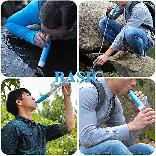 Mini Wasserfilter, ODOLAND Persönlicher Wasserfilter Filter für Outdoor Camping Wandern Trekking - 6