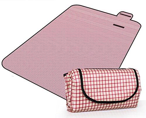 Honeystore 200*150 Oxford Yoga Matte Strand Ausflug Picknickdecke mit wasserabweisender Unterseite A06
