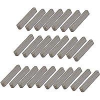 sourcing map 14mmx3mmx3mm acier carbone clavette barre clavette 50pcs gris