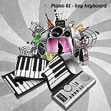 61 Teclas Universal Flexible Roll Up Piano electrónico Teclado suave Piano (Color: blanco y negro)