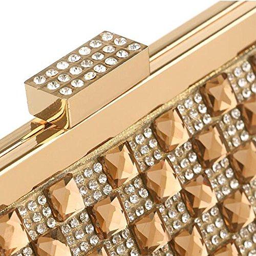 NAOMIIII Womens Sparkly Party Abend Braut Prom Hochzeit Schulter Handtasche Gold